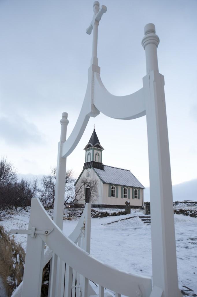 Bilde fra FIsland - Kirken på Þingvalla