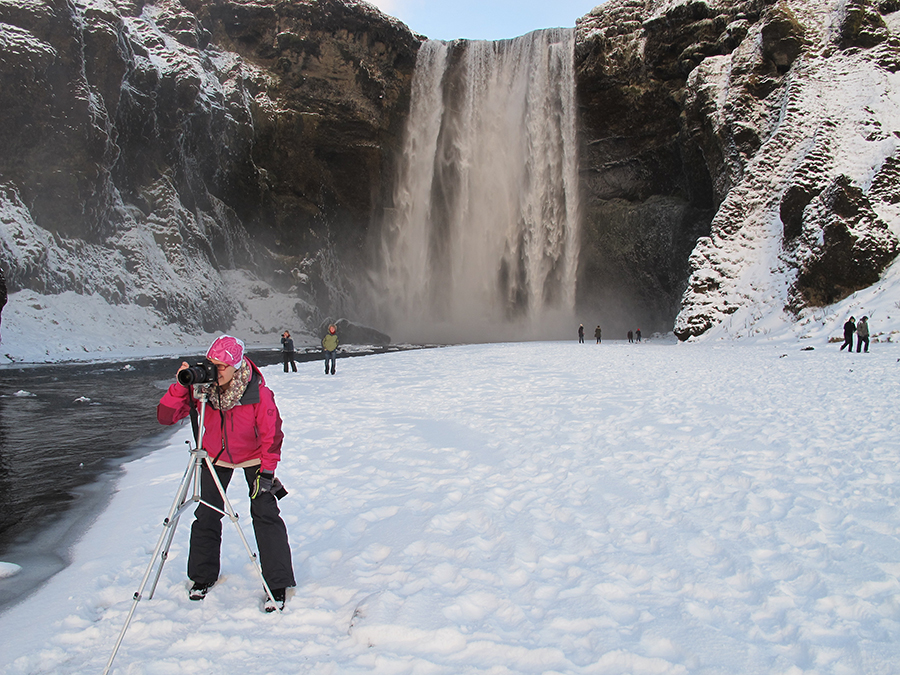 Bilde fra Island - Fossefallet Skogafoss