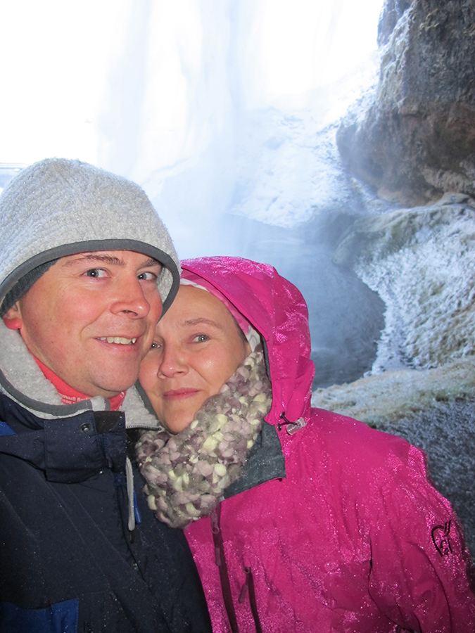 Bilde fra Island - bak fossen