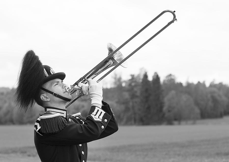 Musikalsk soldat i Hans Majestet Kongens Garde