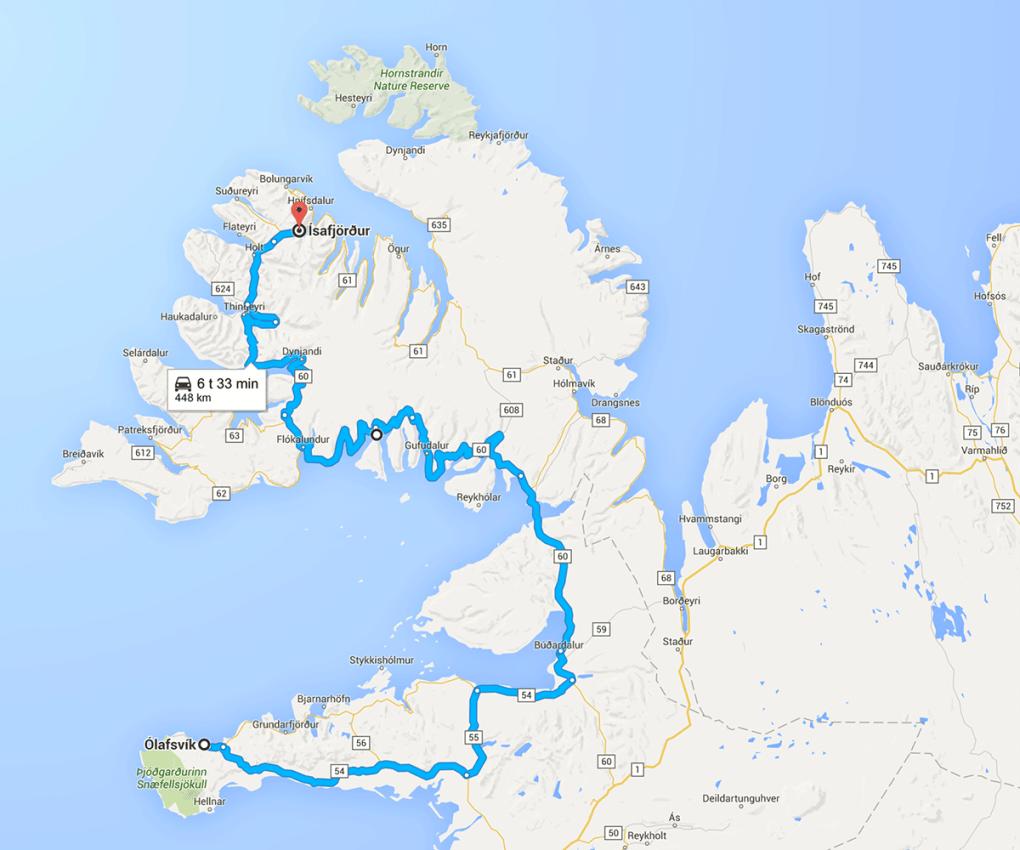 Fototur til Island - reiserute dag 3