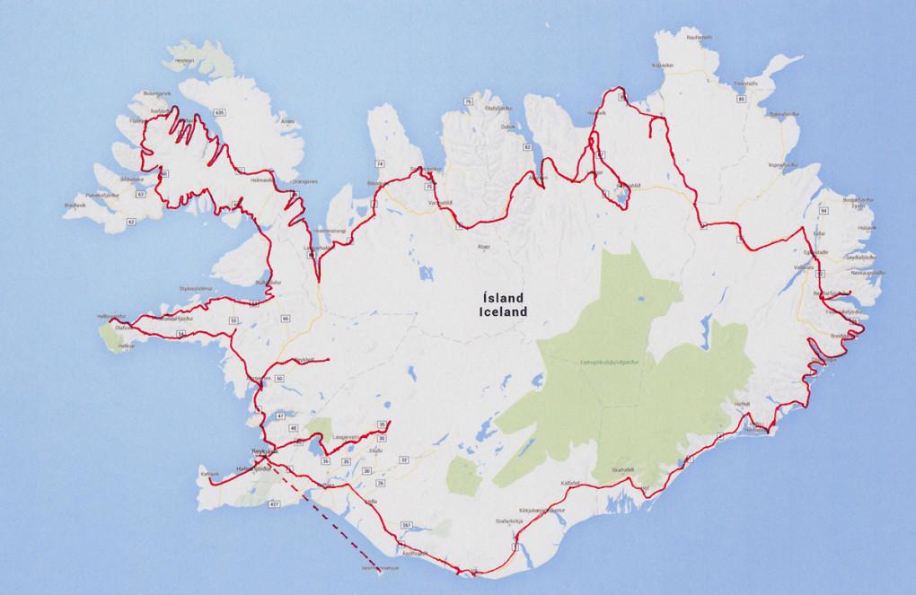 Fototur til Island. Oversikt over reiserute