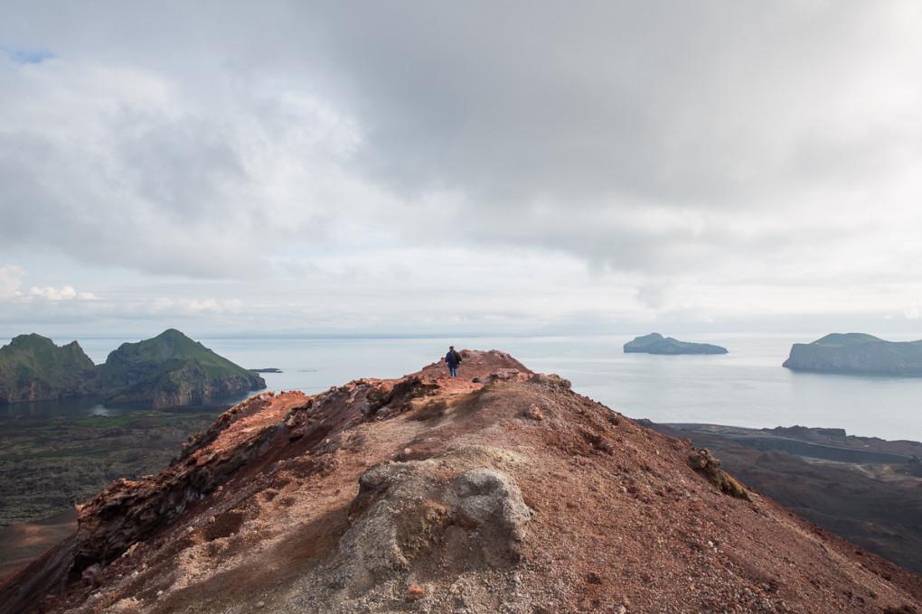 Fototur til Island. Utsikt fra Eldfell på Heimaey, Vestmannaeyjar