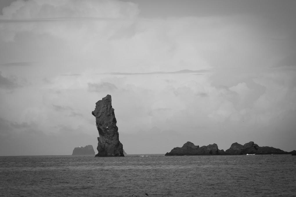 Fototur til Island. Lavabasalt i havet