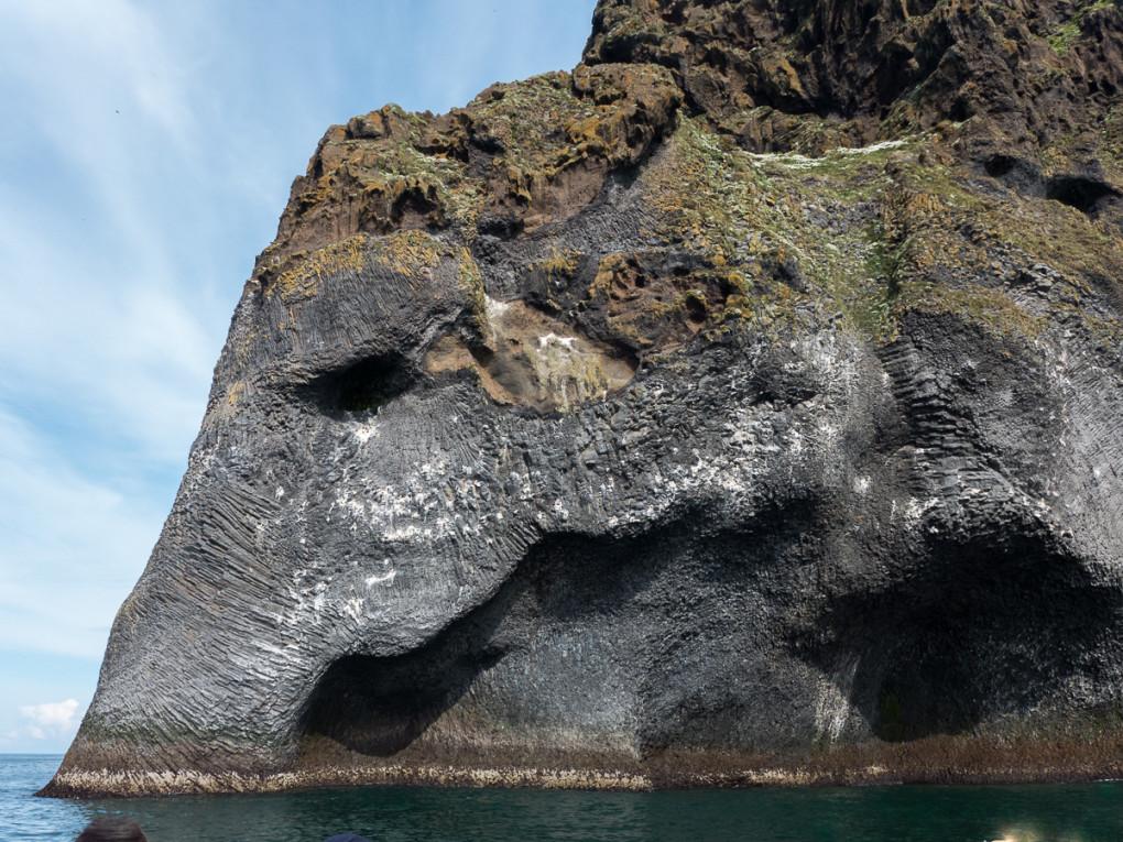 Fototur til Island. Figur av en elefant i havet